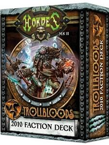 Hordes Accessories:  MkII Trollblood 2010 Faction Stat Card Deck (MK2)