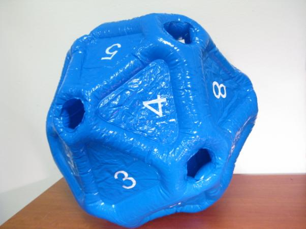 Gaming Toys: Blue Vinyl Inflatable d20