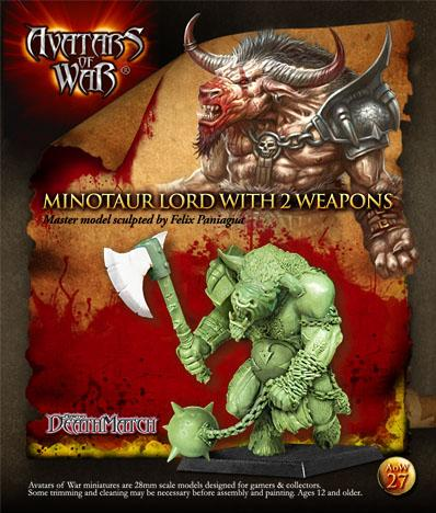 Avatars of War: Minotaur Chieftain with Paired Weapons