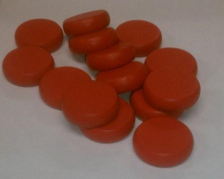Red Crokinole Discs (14)
