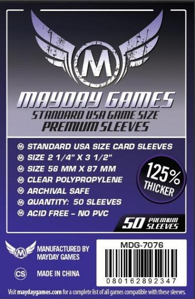 Dark Purple Label: Premium USA Board Game Sleeves 56 MM X 87 MM (50 pack)
