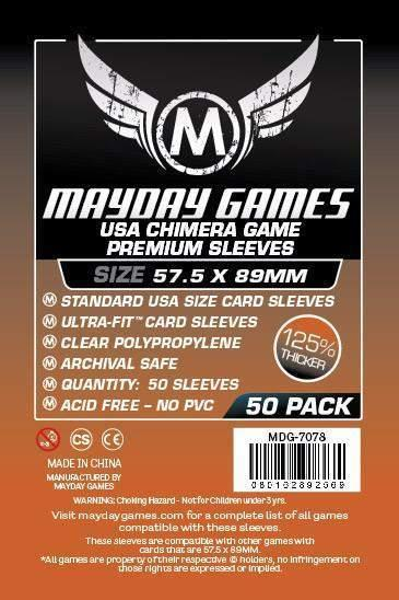 Dark Orange Label: Premium USA Chimera Game Sleeves 57.5 X 89 MM (50 pack)