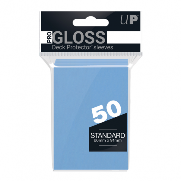 Ultra-Pro Sleeves:  New Standard Light Blue Deck Protectors (50)