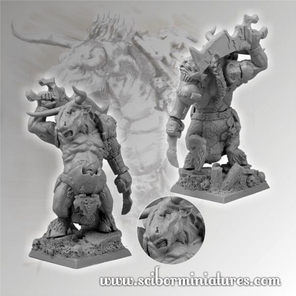 28mm Fantasy Miniatures: 28mm/30mm Minotaur Warrior #2