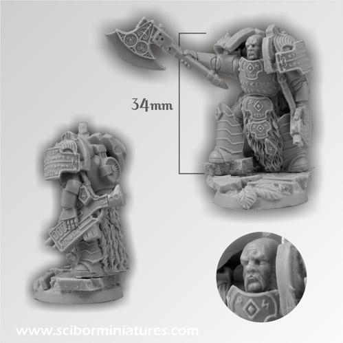 28mm Fantasy Miniatures:28mm Celtic SF Warrior