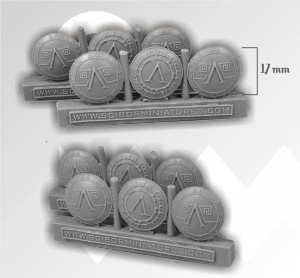28mm Fantasy Miniatures: Spartan Shields