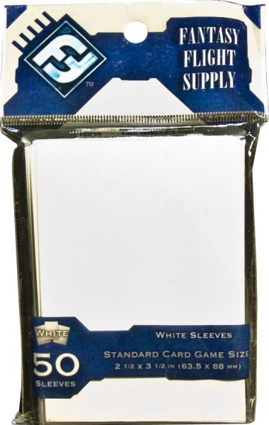 Colored Game Sleeves: White Card Game Sleeves (50)