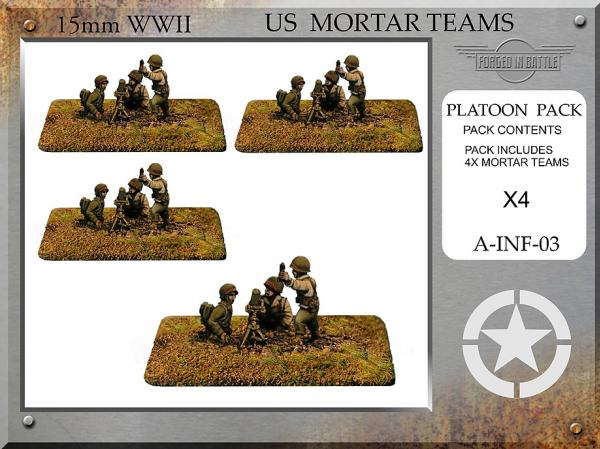 Forged in Battle (15mm WWII): US 81mm Mortar Teams
