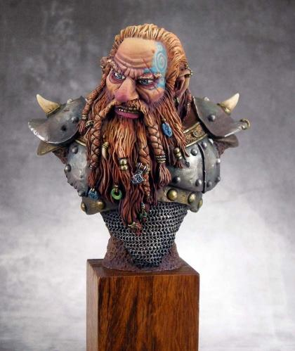 Master Series Models: 54mm The Grudge (Dwarf Bust)