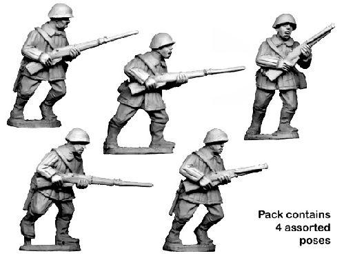 Crusader Miniatures: Russian Infantry Winter Uniform in helmets (4)
