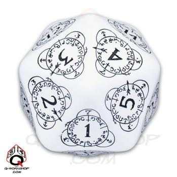 Exotic Dice: d20 White & Black Card Game Level Counter (1)