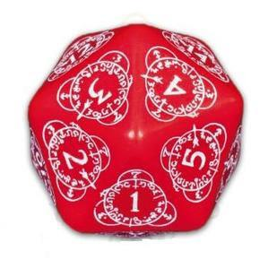 Exotic Dice: d20 Red & White Card Game Level Counter (1)