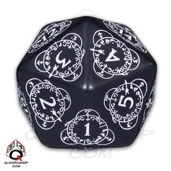 Exotic Dice: d20 Black & White Card Game Level Counter (1)