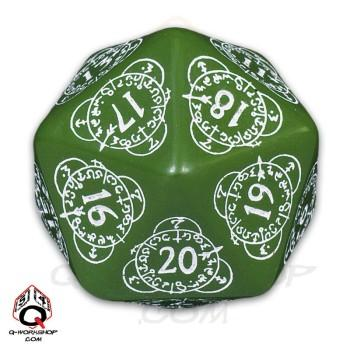Exotic Dice: d20 Green & White Card Game Level Counter (1)
