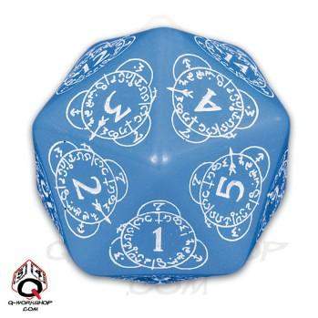 Exotic Dice: d20 Blue & White Card Game Level Counter (1)