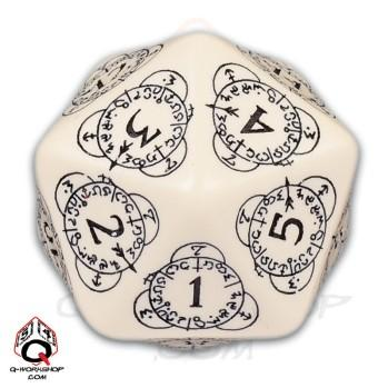 Exotic Dice: d20 Beige & Black Card Game Level Counter (1)
