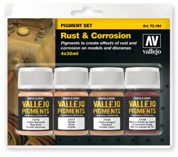 Vallejo Pigments: Rust & Corrosion Set
