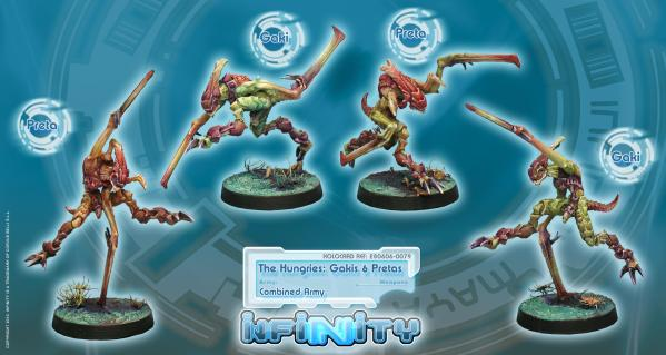 Infinity (#079) Combined Army The Hungries: Gakis and Pretas (4)