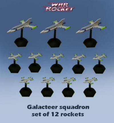 War Rocket: Galacteer Squadron (pack of 12 )