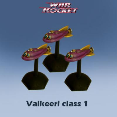 War Rocket: Valkeeri Class 1 (pack of 3)