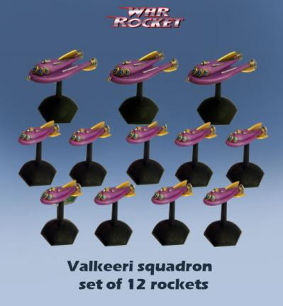 War Rocket: Valkeeri Squadron (pack of 12 )