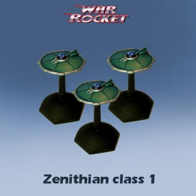 War Rocket: Zenithian Class 1 (pack of 3)
