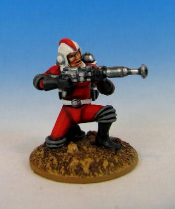 Retro Raygun: (Galacteers) Trooper, kneeling