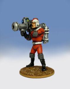 Retro Raygun: (Galacteers) Trooper, firing atomic bazooka