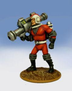 Retro Raygun: (Galacteers) Trooper, advancing w/ atomic bazooka