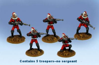 Retro Raygun: (Galacteers) Tactical Squad  (five troopers)