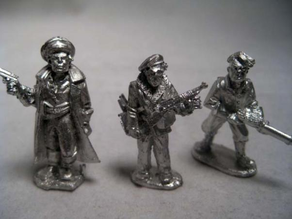 28mm (Pulp): Very Private Army Assault Section Commanders (3)