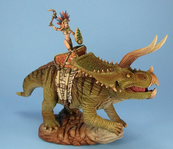 Visions In Fantasy: Triceratops (w/rider)