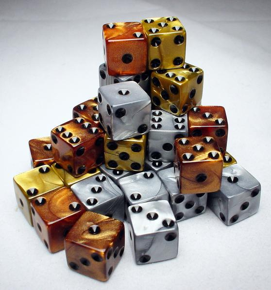 Dice Loose Singles: Assorted Olympic Random Pipped 12mm d6 (1)