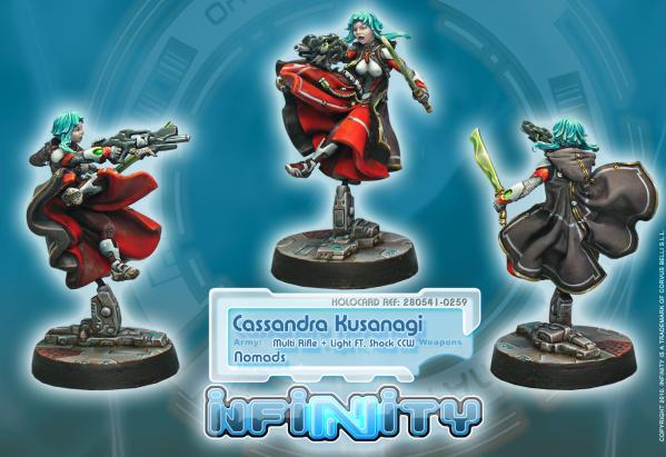 Infinity (#259) Nomads: Cassandra Kusanagi (MULTI Rifle & Light Flamethrower, Shock CCW) (1)