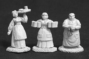 Dark Heaven Legends: Townsfolk I (bartender, 2 Wenches)