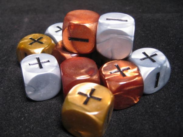 Fudge Dice: Olympic (12 dice, gold, silver, bronze)