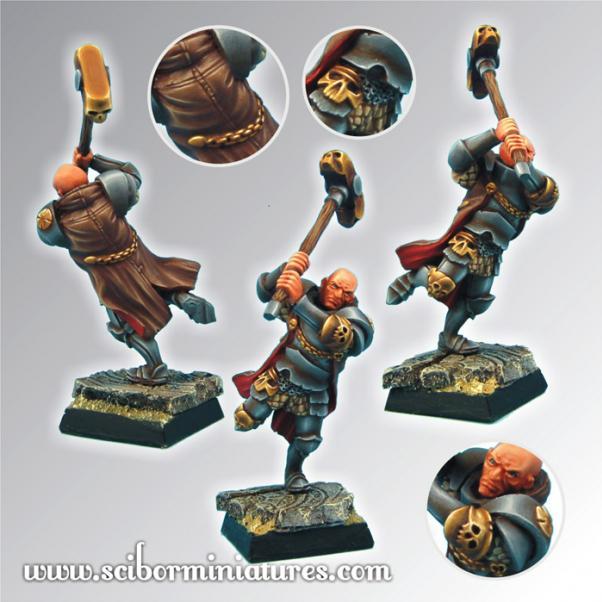 28mm Fantasy Miniatures: 28mm/30mm Fighting Priest #2