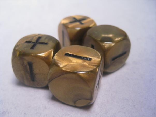 Fudge Dice: Olympic Gold (4 dice in plastic tube)