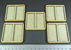 Skirmish Tray: 2-25 x 50mm Cavalry bases, 60mm tray (5 count)