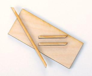 Skirmish Tray: Heavy Duty Plywood Movement Tray Kit. Size 150x75mm