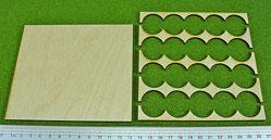 Hordes Tray Set: Rank Tray, 5x4, 25mm circle bases