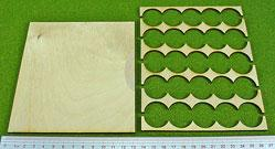 Hordes Tray Set: Rank Tray, 5x5, 25mm circle bases