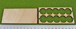 Hordes Tray Set: Rank Tray, 5x2, 20mm Circle Bases