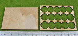 Hordes Tray Set:Rank Tray, 5x3, 20mm circle bases