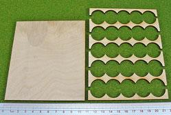 Hordes Tray Set: Rank Tray, 5x5, 20mm Circles