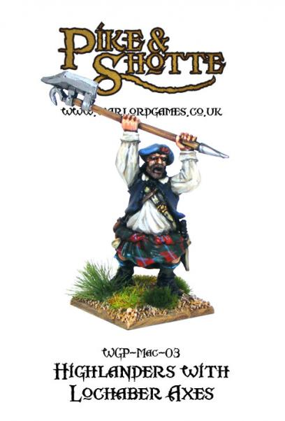 28mm Pike & Shotte: Highlanders with Lochaber Axes