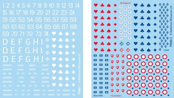 Flames of War - French: French Early War Decals