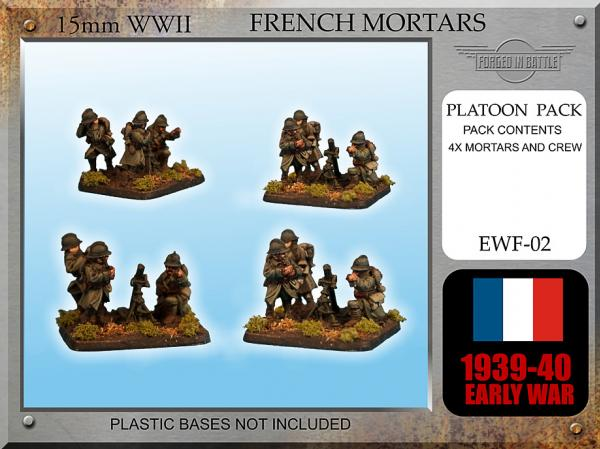 Forged in Battle (15mm WWII): Early War French Brandt Mortar mle 27/31 Teams x 4