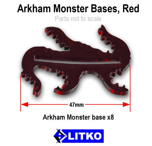 Arkham Horror: Cthulhu Monster Bases (Transparent Red) (8)