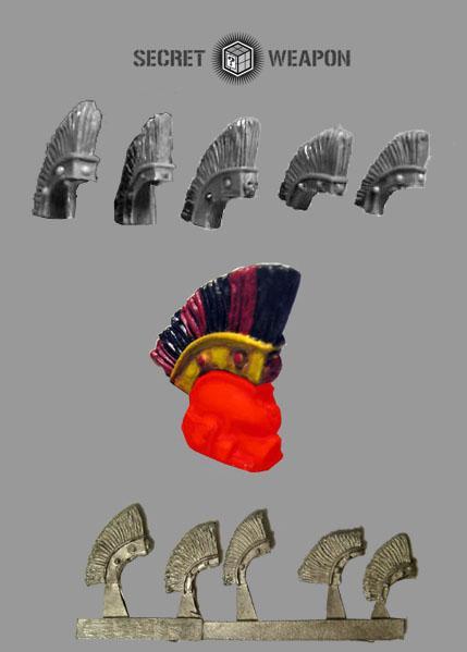 Large Roman Style Helmet Crests (5)